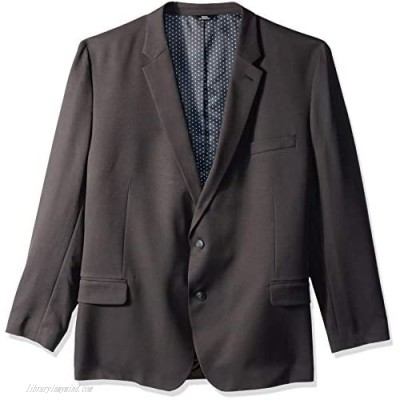 Haggar Men's Big and Tall B&T Active Series Stretch Classic Fit Suit Separate Coat Charcoal 56L