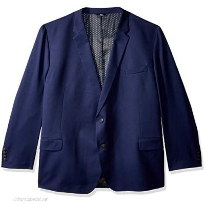 Haggar Men's Big and Tall B&T Active Series Stretch Classic Fit Suit Separate Coat Midnight 52L