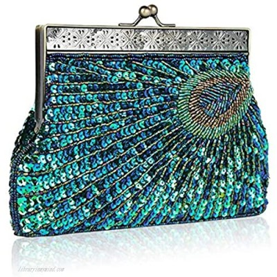 Vistatroy Vintage Style Beaded And Sequined Evening Bag Wedding Party Handbag Clutch Purse for Women Evening