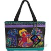 Laurel Burch `Dog And Doggies` Small Tote Bag Purse