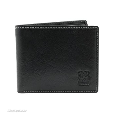 CAPPIANO Mens Genuine Leather Slim 11 Credit Card Billfold Wallet with ID Photo Window