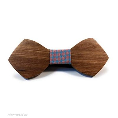 Men's Wooden Bow tie Handmade Stylish with Different Designs and Colors Real Authentic Wood Adjustable Strap