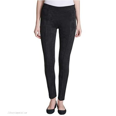 Andrew Marc Women's Super Soft Stretch Faux Suede Pull On Pants Black Medium