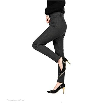 Senxcover Women's Work Office Pants Straight Leg Casual Ankle Suit Pants Classic Fit Pull on Pants
