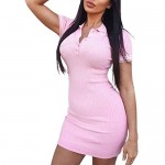 Women Two Piece Outfit Short Sleeve Crop Top Bodycon Mini Skirt Lady Solid Color Ribbed Knitted Slim Casual Outfits