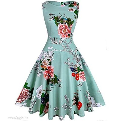 OWIN Women's Vintage 1950's Floral Spring Garden Rockabilly Swing Prom Party Cocktail Dress…